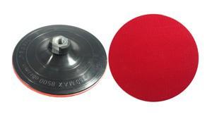 Padas šlifavimo guminis lipnus šlifuokliui 150 mm su varžtu 08510 Lenkija