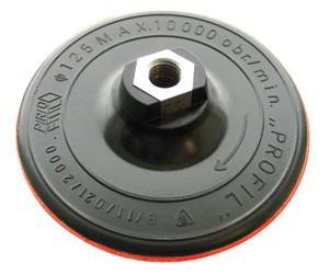 Padas šlifavimo guminis lipnus šlifuokliui 125 mm su varžtu M14 08500 Lenkija
