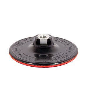 Padas šlifavimo guminis lipnus šlifuokliui 125 mm su varžtu ir ašele 08501 Lenki