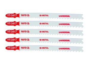 Ašmenys siaurapjūkliui universalūs 130/106/1.27 mm 5 vnt. TPI10-5 YT-3417 YATO