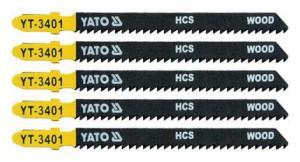 Ašmenys siaurapjūkliui medžiui 100/75/1.30 mm 5 vnt.TPI10 YT-3401 YATO