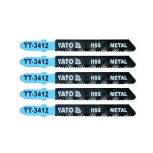 Ašmenys siaurapjūkliui metalui 75/50/1.00 mm 5 vnt. TPI21 YT-3412 YATO