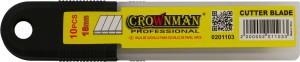 Ašmenys peiliukui nulaužiami 18 mm 10 vnt. 0201103 Crownman (20)