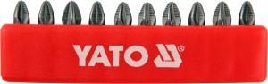 Antgaliai atsuktuvui PZ2 25 mm S2 10 vnt. YT-0471 YATO