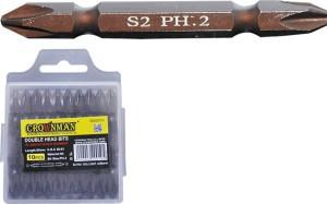 Antgaliai atsuktuvui dvipusiai PH2 65 mm S2 10 vnt. 0620010 Crownman (10)