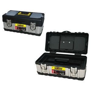 """Dėžė įrankiams metalinė/plastikinė 17"""" 41*21.5*18.3 cm 0018037 Crownman (1)"""