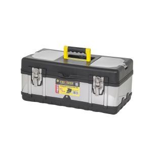 """Dėžė įrankiams metalinė/plastikinė 19"""" 45*24.5*19 cm 0018039 Crownman (1)"""