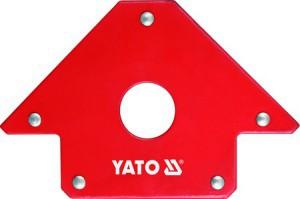 Laikiklis suvirinimo magnetinis 102*155*17 mm 22.5 kg D18 mm YT-0864 YATO