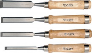 WOOD CHISEL SET CrV 10-16-20-25 MM