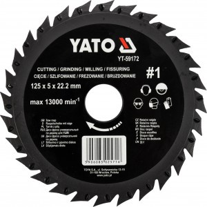Drožtuvas medžiui diskinis 125 mm YT-59172 YATO