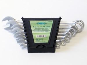 Raktai plokšti-kilpiniai 8 vnt. 6-19 mm CR-V SATIN 1527.80.OX Savex (5)