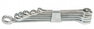 Raktai plokšti-kilpiniai 8 vnt. 6-19 mm CLIP 51590 Indija
