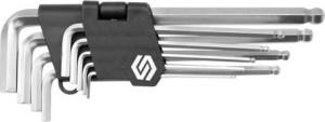 Raktai šešiakampiai 9 vnt. 2-8,10 mm šarnyriniai IMBUS  CV 56477