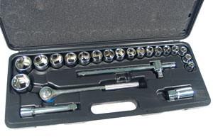 """Galvučių rinkinys 24 vnt. 10-32 mm 1/2"""" 58240 Taivanis"""