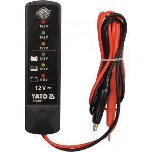 Testeris akumuliatoriaus įkrovai tikrinti skaitmeninis 12V YT-83101 YATO