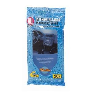 Servetėlės drėgnos automobiliui vanilės kvapo 20 vnt. ALL RIDE 871125281333 (12)