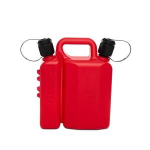 Kanistras kurui ir tepalui plastikinis 1.5 l ir 3.5 l raudonas 7030 Italija
