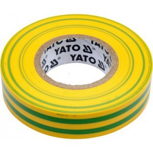 Juosta izoliacinė žalia-geltona 0.13 mm*15 mm*10 m YT-81593 YATO (12/72)