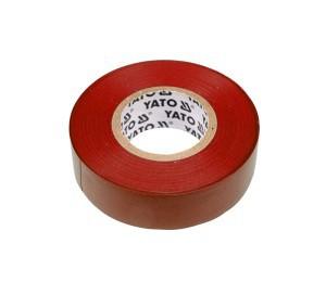 Juosta izoliacinė raudona 19 mm*20 m*0.13 mm YT-8166 YATO (12/72)