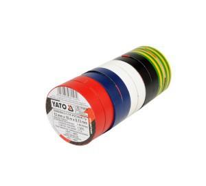 Juosta izoliacinė spalvota 12 mm*10 m*0.13 mm 10 vnt. YT-8156 YATO (10)