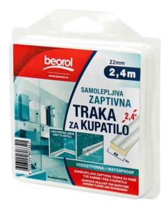 Juostelė kampų sandarinimo dušui ir voniai 22 mm*2.4 m balta GT122 Beorol