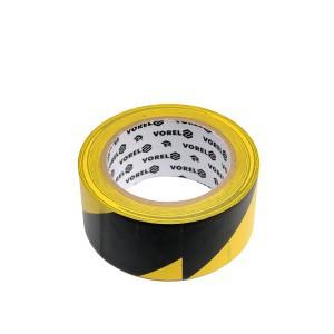 Juosta įspėjamoji geltona-juoda 48 mm*33 m stipraus lipnumo PVC 75231 Vorel