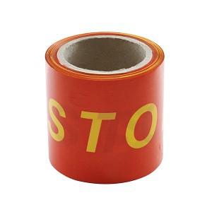 Juosta įspėjamoji raudona STOP 100 mm*100 m