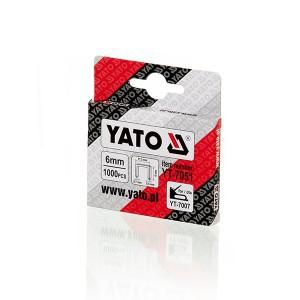 Kabės susegėjui 53/6 mm (0.7*11.2) 1000 vnt. YT-7051 YATO