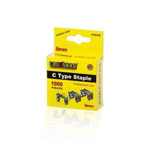 Kabės susegėjui C 53 tipo  8 mm (1.2*11.2) 1000 vnt. 0764208 Crownman (50)