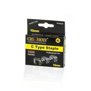 Kabės susegėjui C 53 tipo 10 mm (0.7*11.3) 1000 vnt. 0764230 Crownman (50)