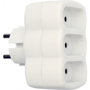 ADAPTER WITH THREE SOCKETS / FLAT